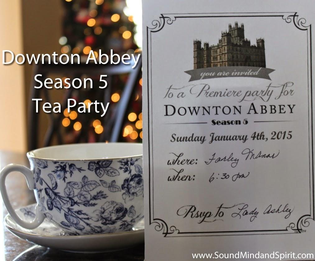 Downton Abbey Season 5 Premiere Tea Party