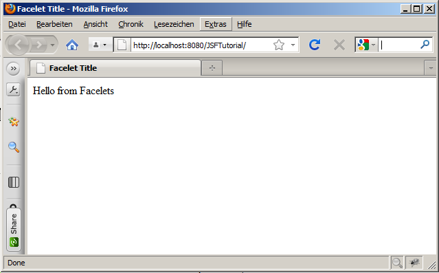JSF tutorials,Hello World in JSF 2,first example of jsf,first tutorial on jsf,jsf example