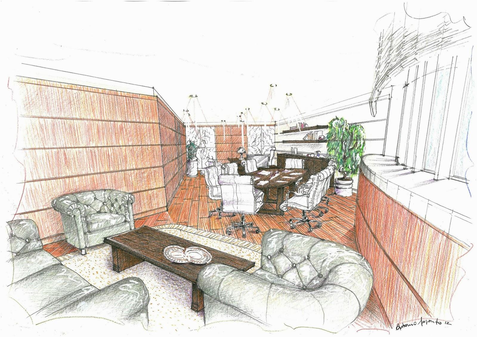 Vent 39 anni di disegni dell 39 arch antonio saporito disegno for Interno j