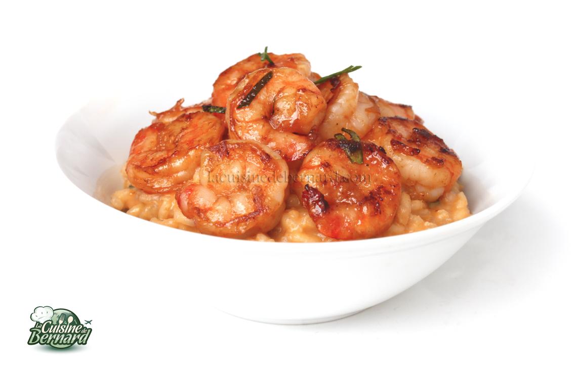La cuisine de bernard risotto au curry rouge et aux - La cuisine de berbard ...
