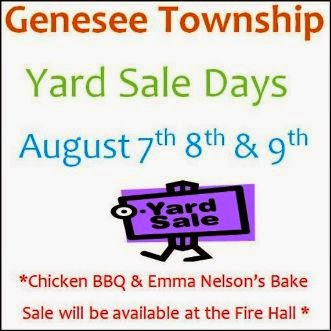 8-7/8/9 Genesee Yard Sale Days