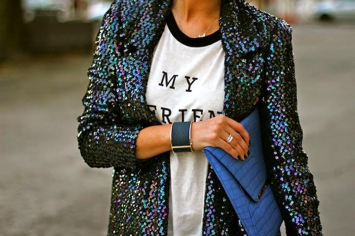 giacca di paillettes
