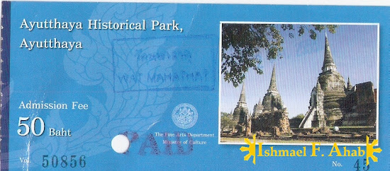 Ticket to Wat Mahathat, Ayutthaya Historical Park