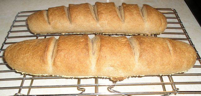 Powersinthekitchen: Whole Wheat Baguettes