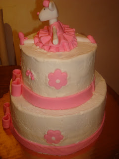 Angelina Ballerina cake and cupcakes