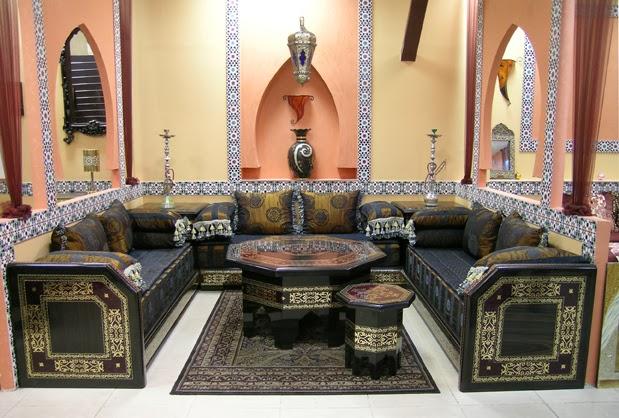 Salon marocaine moderne canap de luxe pour salon for Salon oriental luxe