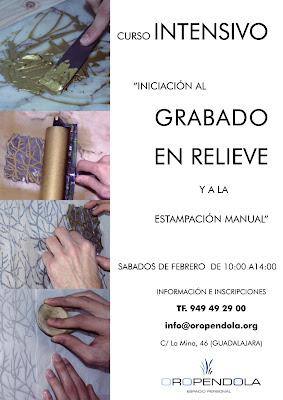 Oropéndola, Guadalajara, espacio cultural, espacio personal, taller de grabado, clases de grabado, grabado en relieve, estampación, curso de grabado, arte, bellas artes, dibujo, técnica artística