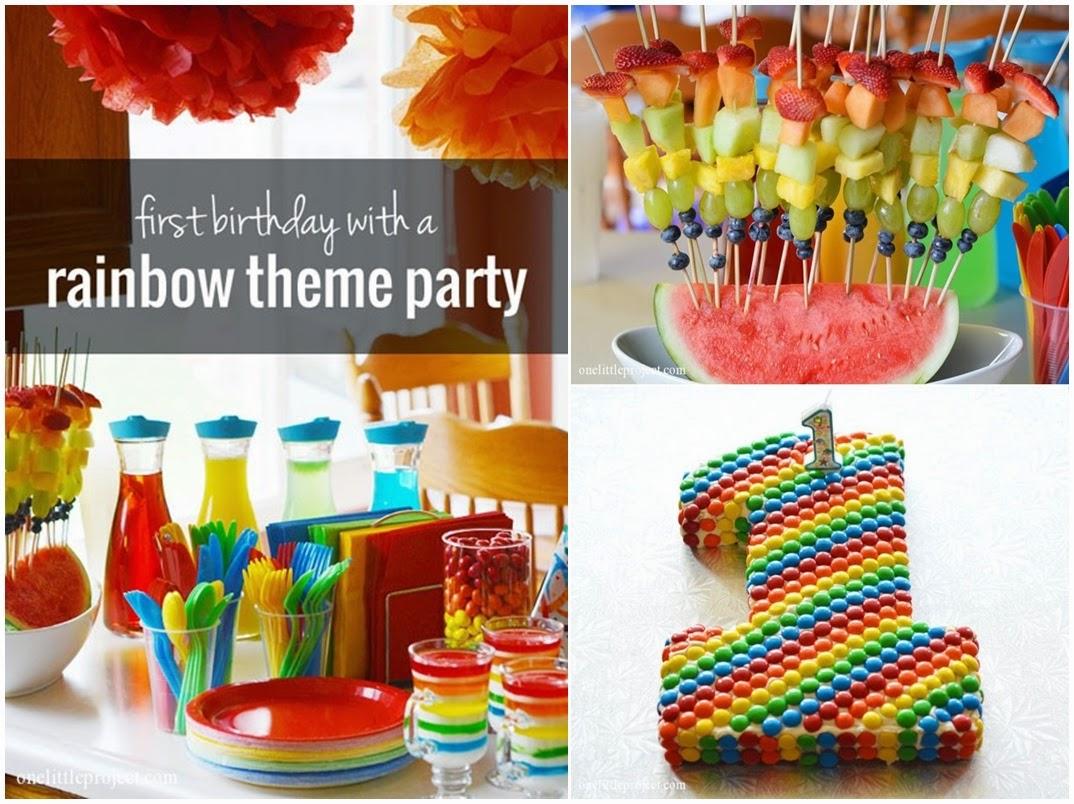 rainbow themed 1st birthday birthday with a rainbow theme diy