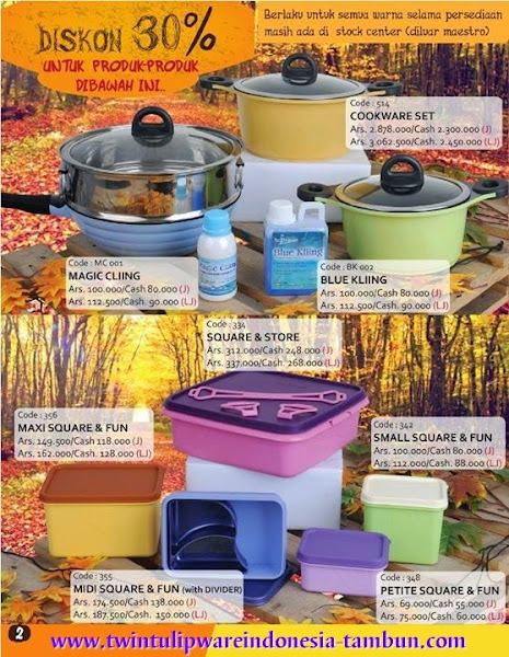 Promo Diskon 30% Tulipware | September - Oktober 2014