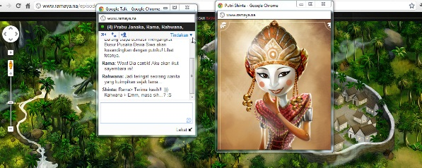 Rama, Rawana and Sita chatting in gtalk