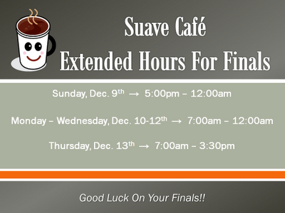 Tarleton Library Cafe Hours