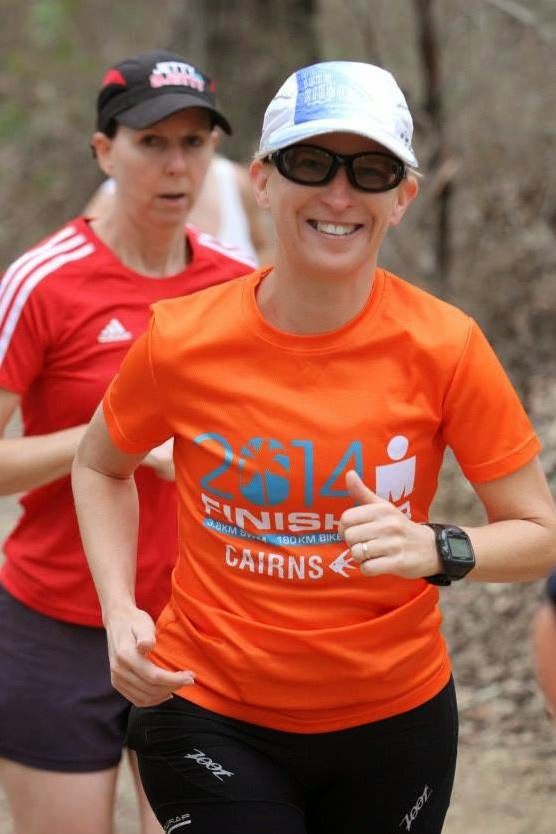 Brisbane's toughest parkrun - Bunyaville. I'm smiling but my fellow runner isn't.
