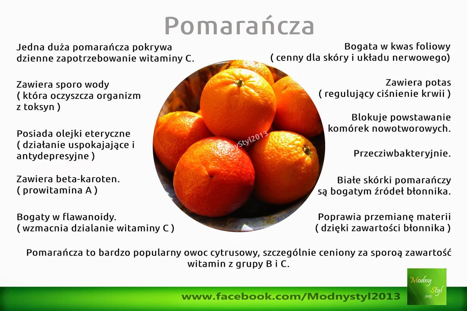 Pomarańcza i jej zdrowotne właściwości