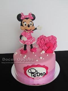Bolo do 2º aniversário da Petra com a Minnie