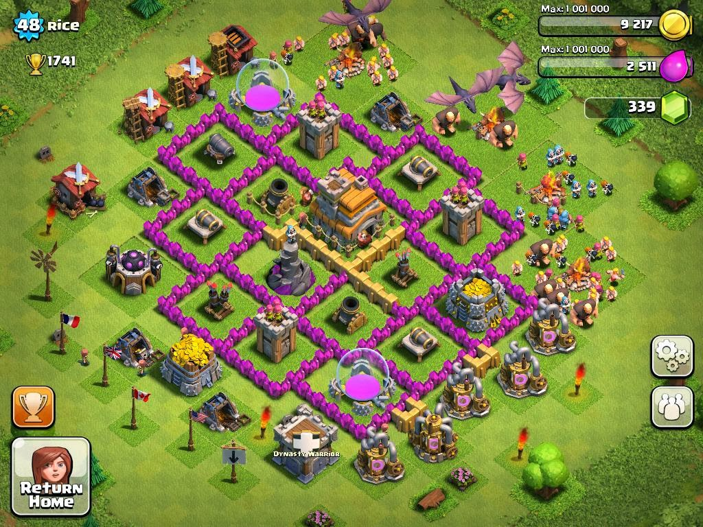 Clash of clans game tips the importance of a good building plan in