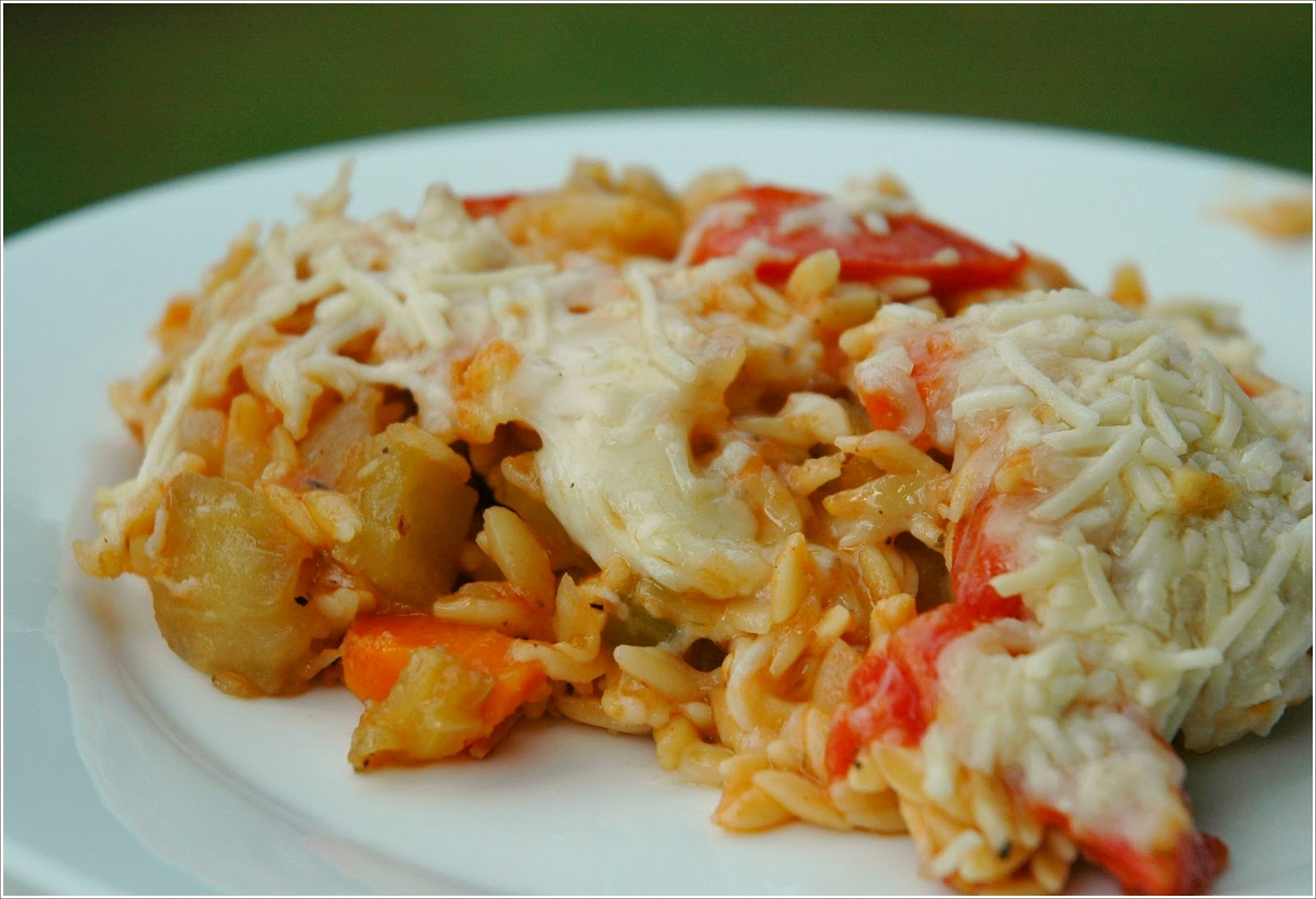 Baked Orzo with Eggplant and Mozzarella | Small Packages Knits