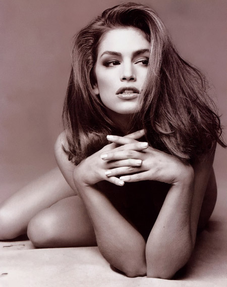 Cindy Crawford with Black and White Color