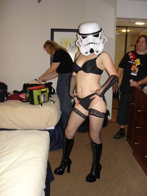 Storm trooper in her underwear