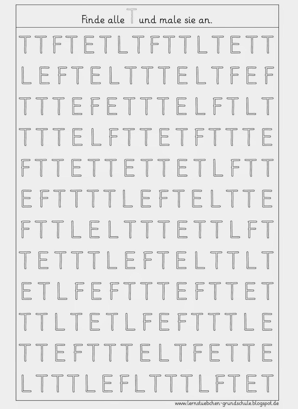 Lernstübchen: Buchstaben erkennen