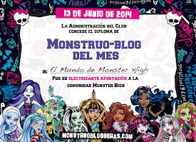 ¡Monstruobloggera del mes de Junio 2014!