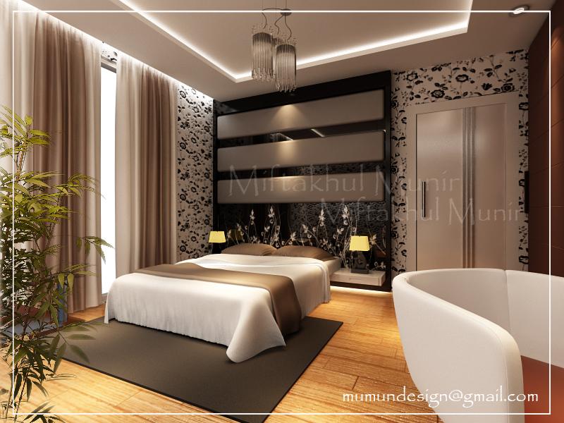 Desain interior rumah desain kamar tidur minimalis modern for Design interior minimalis modern