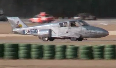 An old Cessna aircraft has been converted into a car in the United States