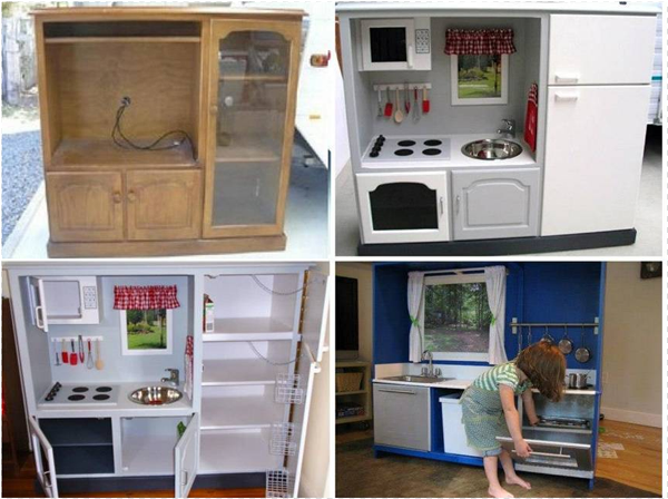 Ideas Amp Products Turn An Old Tv Cabinet Into A Play
