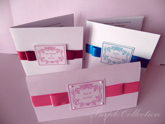 Best Seller Wedding Invitation Cards, best seller cards, wedding invitation cards, malay wedding card, wedding, invitation, handmade card, ribbon card