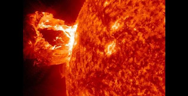 Coronal Mass Ejection on the Sun. Credit: NASA