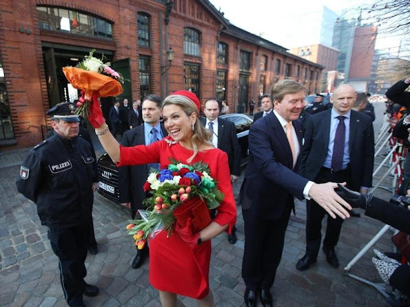 King Willem-Alexander and Queen Maxima of The Netherlands in Hamburg, Germany on March 20, 2015.