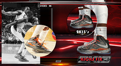 NBA 2K13 Nike LeBron X BHM Shoes Patch