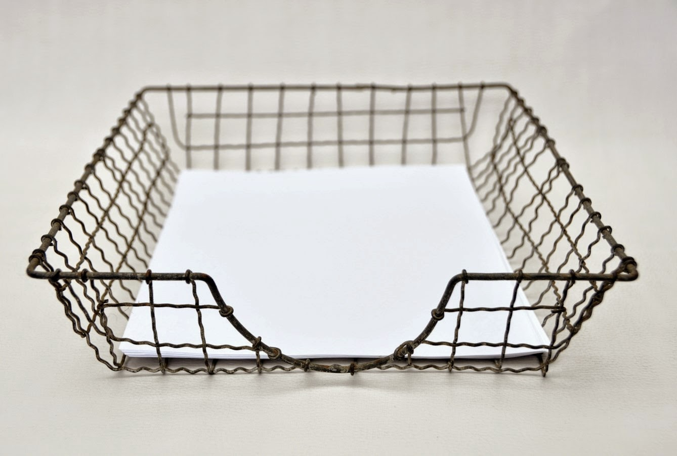lulu   yesteryear redeemed: Vintage Wire Paper Tray, circa 1950-70 SOLD