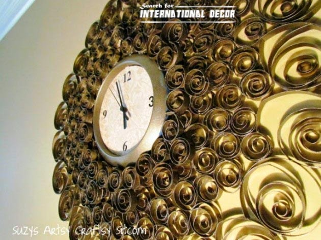 diy wall clock, cool wall clocks,creative wall clocks,toilet paper clock