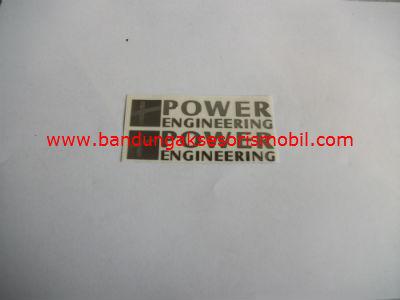 Emblem Alumunium 3M Kecil 2 Pcs Power Engineering
