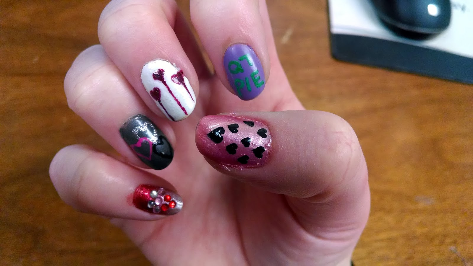 The Nail Diaries Valentines 2013 Medley Nail Design