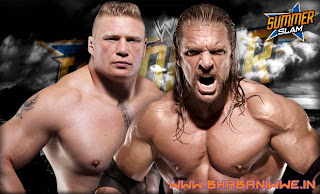 Brock lesnar vs Triple h at elimination chamber
