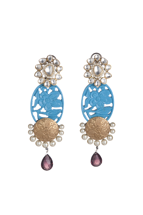 semi-precious stones in vibrant colours set in metal