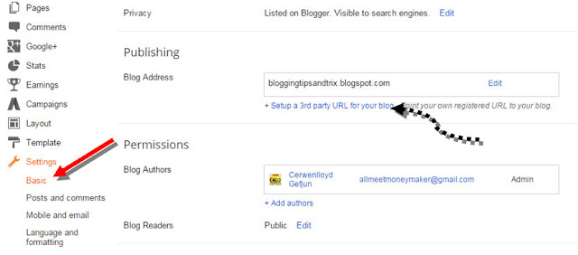 set up custom domain via google apps