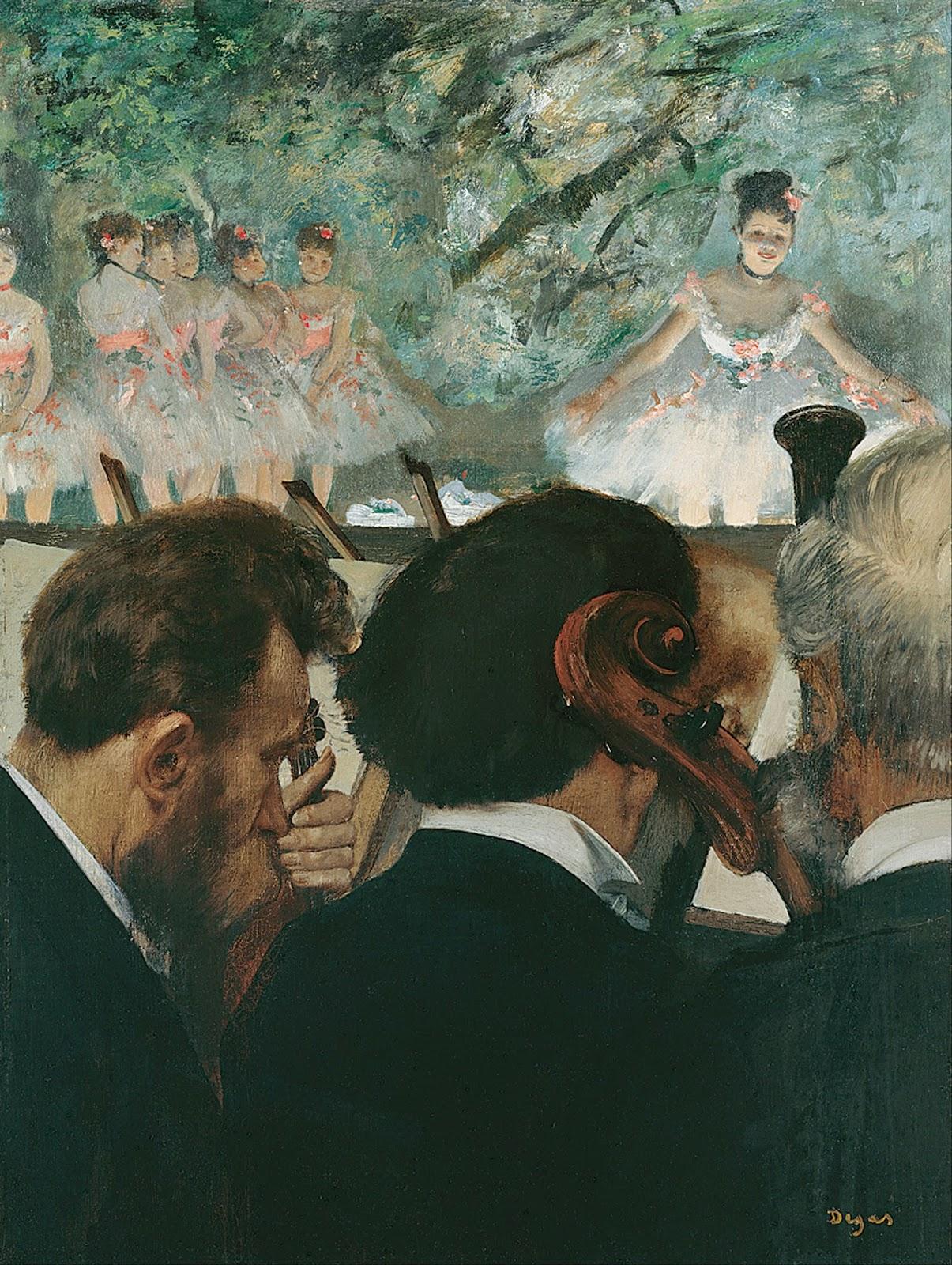 Músicos da Orquestra - Edgar Degas
