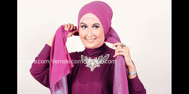 Pashmina Metalik Untuk Kepesta | Tutorial Hijab