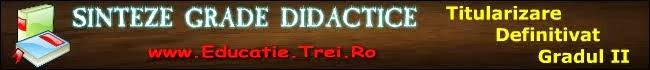 Sinteze grade didactice 2014 - titularizare, definitivat, gradul II - psihopedagogie