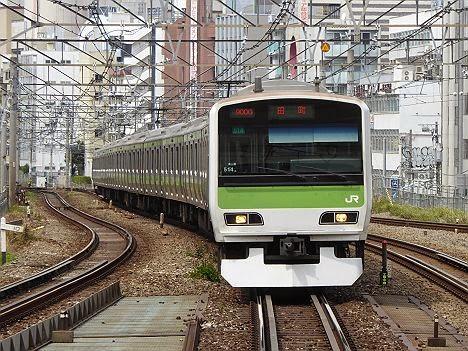 田町行きの山手線 E231系