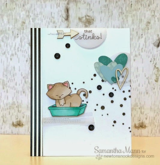 That Stinks Kitty Card by Samantha Mann | Naughty Newton Stamp set by  Newton's Nook Designs