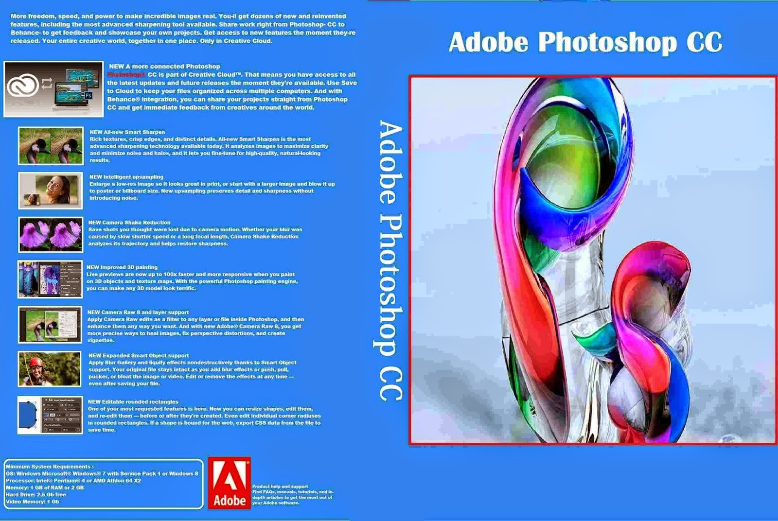Download Adobe Photoshop CC 2014 15.1 x64 & x86 PT-BR Adobe Photoshop CC   Capa PC Software