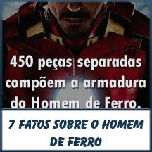 CLIQUE! - 7 Fatos sobre a armadura do Iron Man