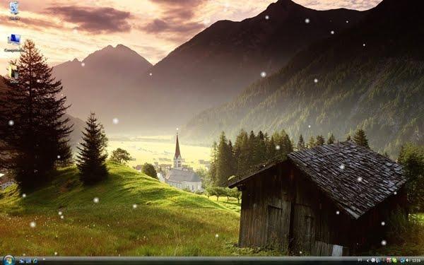 Download Animated Snow Desktop Wallpaper