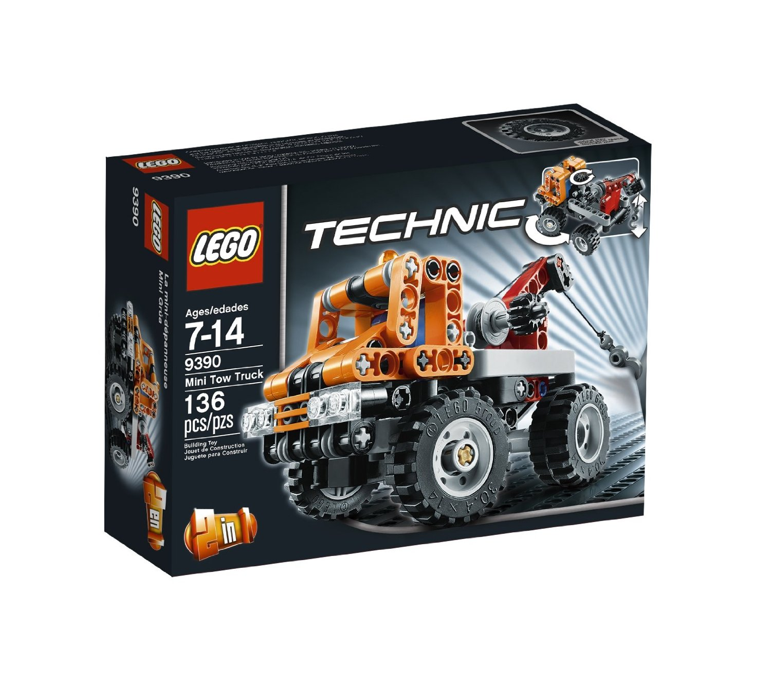 lego technic mini tow truck 9390 my lego style. Black Bedroom Furniture Sets. Home Design Ideas