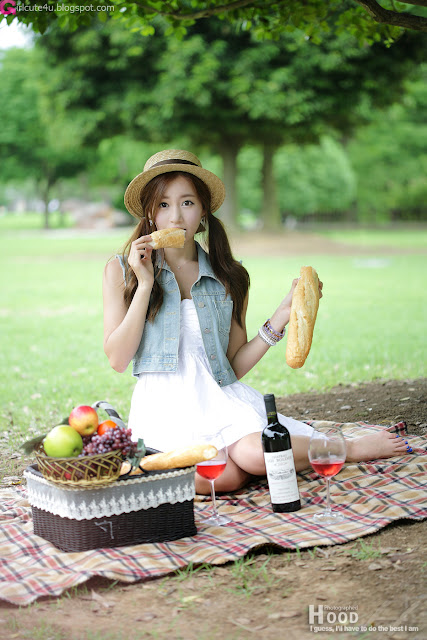 2 Picnic with Han Ji Eun-Very cute asian girl - girlcute4u.blogspot.com