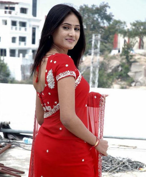 sony charishta red saree unseen pics