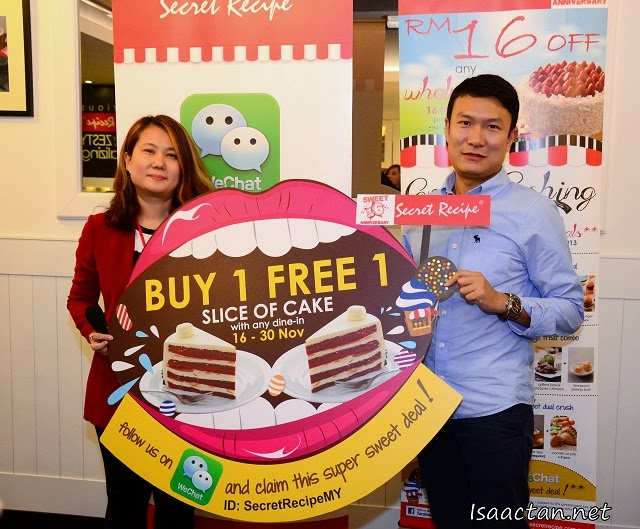 And it's official, the collaboration between WeChat and Secret Recipe
